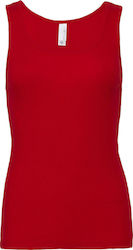 Rib Tank Top Bella 1080: - Red