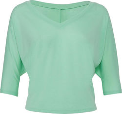 Flowy Boxy V-Neck T-Shirt Bella 8825 - Mint