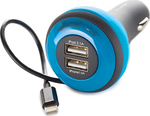 Boompods Carpod In-car 3-Device Micro-USB Charger 4Ah Blue