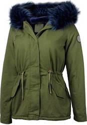 WAXX SQUAD LADIES PARKA JACKET KAKI/BLUE