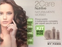 Fama Fama 2 Care Nutritive Kit Mini Size Shampoo 100ml & Hair Mask 100ml & Moisturizing Booster 50ml