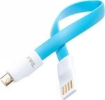 Tellur Magnetic USB 2.0 to micro USB Cable Μπλε 0.2m (TLL155071)