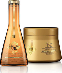 L'Oreal Mythic Oil Offer Shampoo For Normal To Fine Hair 250ml & Masque For Normal To Fine Hair 200ml