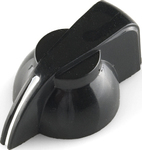 Black Chicken Head Knob - 14x20mm (COM-10000)