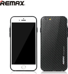Remax Back Cover Σιλικόνης Carbon Μαύρο (iPhone 6/6s)