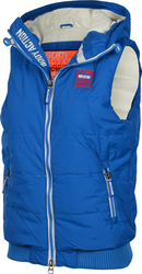 Body Action Quilted Fleece Lined Vest 071515-Blue