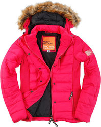 Body Action Slim Fit Quilted Jacket 071619-Fuchsia