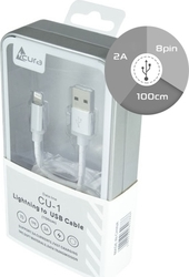 Acura Regular USB to Lightning Cable Λευκό 1m (CU-1)