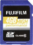 Fujifilm High Performance SDHC 4GB Class 10