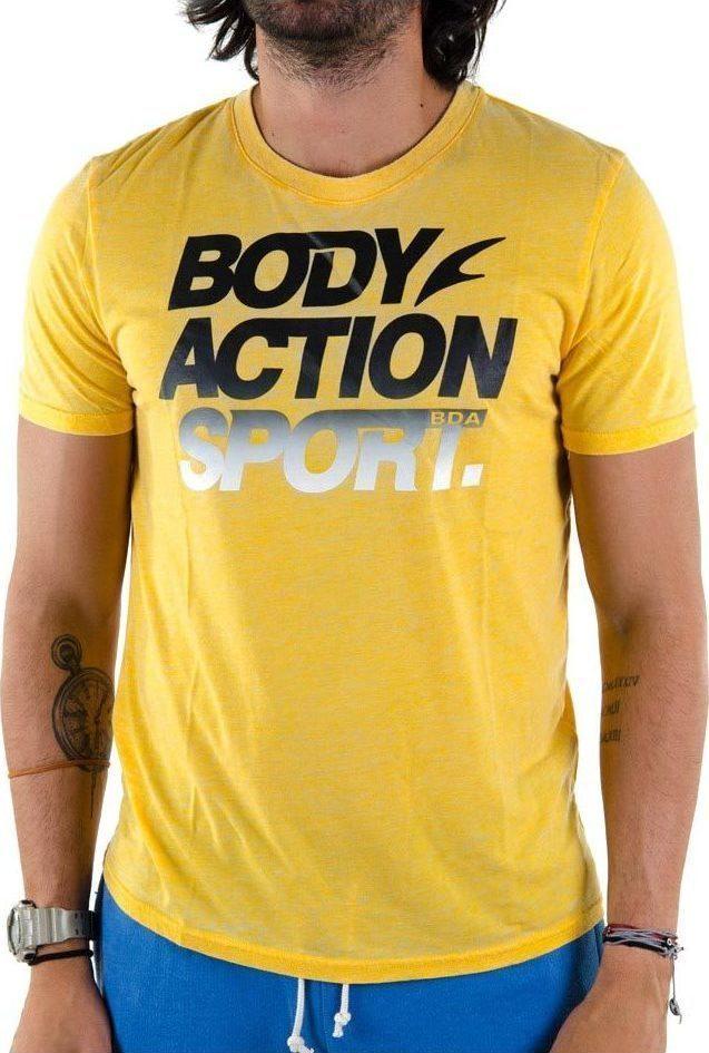 c8207d1ba3 Body Action Short Sleeve T Shirt 053605 -Yellow - Skroutz.gr