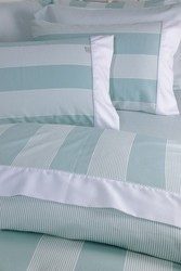 Down Town Home Παπλωματοθήκη Υπέρδιπλη Σετ Primo Wide Stripes Aqua