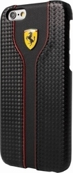 Ferrari RC Leather Hard Case Μαύρο (iPhone 6/6s)