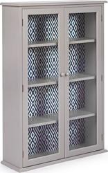 Edvige Grey Display Cabinet 2do 0744573 80x25x120cm