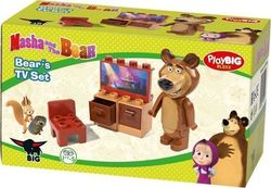 Big Toys Playbig Bloxx Masha & Bear Starter Set (4 Σχέδια)