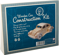 Professor Puzzle Construction Kit - Wooden Car