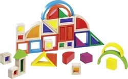 Goki Rainbow Building Blocks With Windows 37 τμχ
