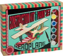 Professor Puzzle Construction & Paint Set - Aeroplane