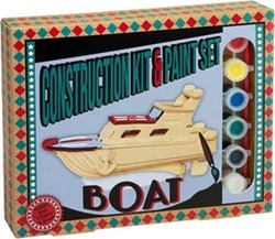 Professor Puzzle Construction & Paint Set - Boat