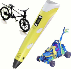 OEM 3D Printing Drawing Pen Yellow 0.4m