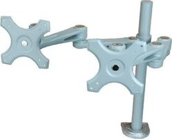 Roline Dual LCD Monitor Arm Desk Clamp 4 Joints