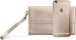 Puro Satin Frame + Wallet Gold (iPhone 6/6s)