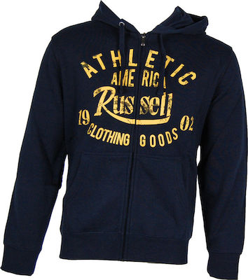 Russell Athletic Zip Through Hoody Distressed A6-049-2-190