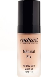 Radiant Natural Fix All Day Matt Make Up 01 Rosy SPF 15 30ml