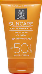 Apivita Suncare Anti-Wrinkle Face Cream Olive & 3D Pro-Algae SPF50 50ml