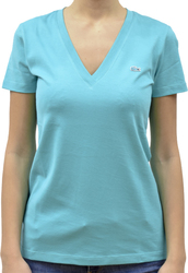 LACOSTE V-NECK T-SHIRT IN SOFT JERSEY BERMUDES