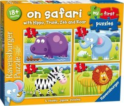 My First Puzzle - On Safari 2, 3, 4 & 5pcs (07301) Ravensburger