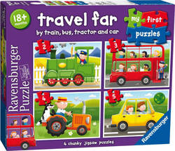 My First Puzzles - Travel Far 2, 3, 4 & 5pcs (07303) Ravensburger