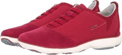Geox U52D7B Red Suede Fabric