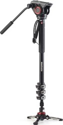 Manfrotto Xpro 4 Section Video Monopod W Fluid Head & Fluidtech Base MVMXPRO500 Μονόποδο