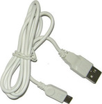 Volte-Tel Regular USB 2.0 to micro USB Cable Λευκό 1m (VCD-01)