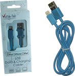 Volte-Tel Regular USB to Lightning Cable Μπλε 1m (42663)