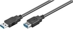 Wentronic USB 3.0 Cable USB-A male - USB-A female 1.8m (45189)