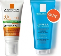 La Roche Posay Anthelios XL Tinted Dry Touch Anti-Shine Gel-Cream SPF50 50ml & Lipikar Gel Lavant 100ml
