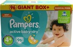 Pampers Active Baby Dry Giant Box Plus No4+ (9-16kg) 96 τμχ