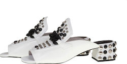 JEFFREY CAMPBELL CAMEO STD HEELED MULES - 0101001484-WHIT WHITE