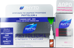 Phyto Phytolium 4 Anti-Thinning Hair 12x3,5ml & Phytophanere 120caps