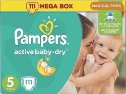 Pampers Active Baby Dry Mega Pack No5 (11-18Kg) 111τμχ