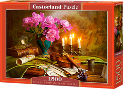 Still Life with Violin and Flowers 1500pcs (C-151530) Castorland