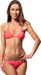 HORSEFEATHERS SUNRISE TRIANGLE-TIE SIDE BRIEF BIKINI NEON PINK