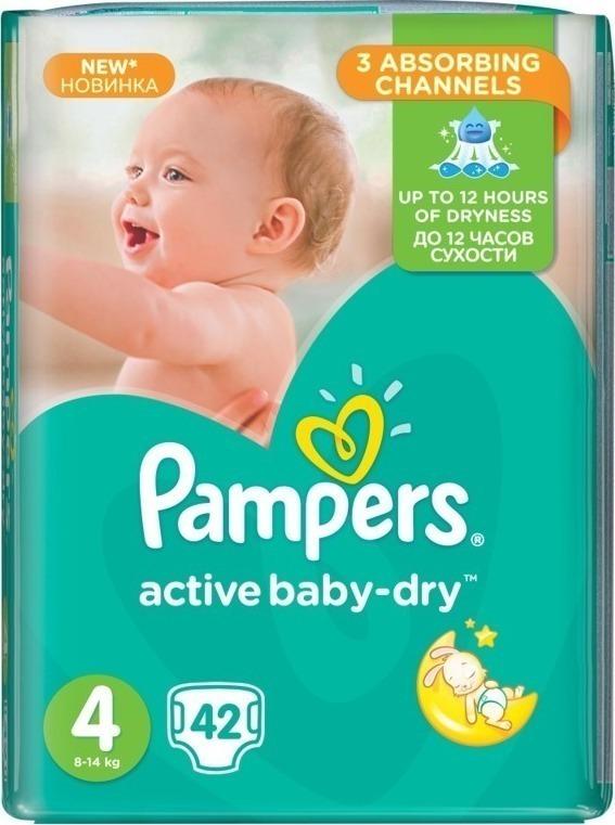 c7d1cadef61 Pampers Active Baby Dry No4 (8-14Kg) 42 τμχ