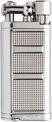 Xikar Chrome Silver Pipeline Lighter 595CS