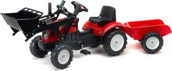 Falk Ranch Trac Red + Loader + Trailer