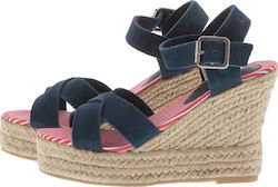 SUPERDRY D2 ISABELLA ESPADRILLE WEDGE SHOES - SDSH0GF1008SOF100-11S BLUE