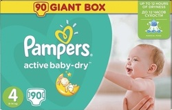 Pampers Active Baby Dry No4 (8-14kg) 90 τμχ