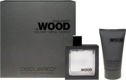 Dsquared2 He Wood Silver Wind Eau de Toilette 50ml & Hair and Body Wash Shampoo 100ml