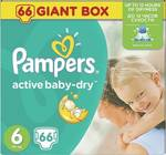 Pampers Active Baby Dry No6 (15+Kg) 66 τμχ